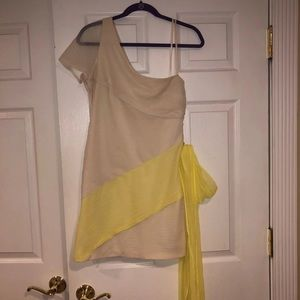 Cream and Yellow BCBG party dress